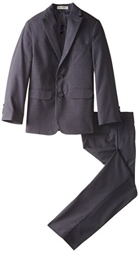 Geoffrey Beene Big Boys' Tri-Wool Suit, Charcoal, 10 - Suit Tri Sale