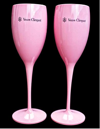 - 1 X Pink Veuve Clicquot Rose Plastic Acrylic Champagne Classic Flute Cup