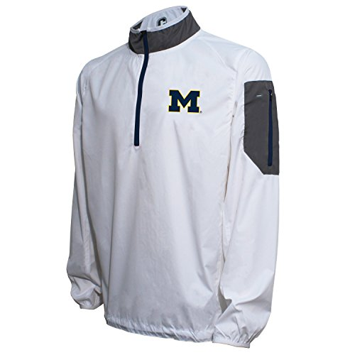 Crable NCAA Men's Lightweight Windbreaker Pullover, White/Navy, X-Large ()