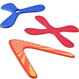 Set of 3 Returning Boomerang, Wood Boomerangs and Soft Boomerang for Athletes, for Sports Game Toy to Beginners, Young Throwers (Suit for Child Over 12 and Playing with Parent's Supervision)