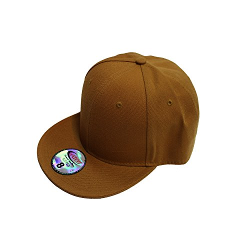 The Real Original Fitted Flat-Bill Hats by HATCO True-Fit (8, MUSTARD)