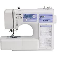 Brother Computerized Sewing and Quilting Machine, HC1850, 130 Built-in Stitches, 8 Presser Feet, Sewing Font, Wide Table, 850 Stitches Per Minute, Instructional DVD, 25-Year Limited Warranty