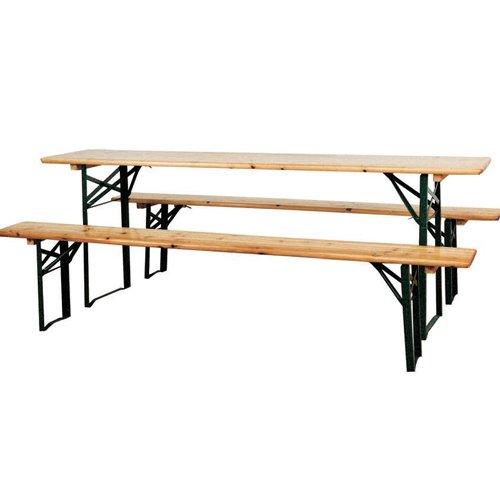 Bierbank Set Gartenmöbel Sitzgruppe Bar aus Holz klappbar cm 220x 70cm