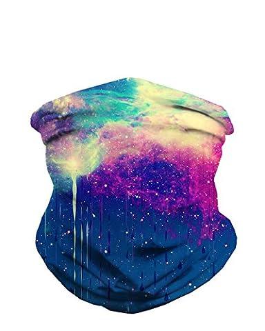 iHeartRaves Till the Sky Falls Down Tie Dye Seamless Mask Festival Bandana