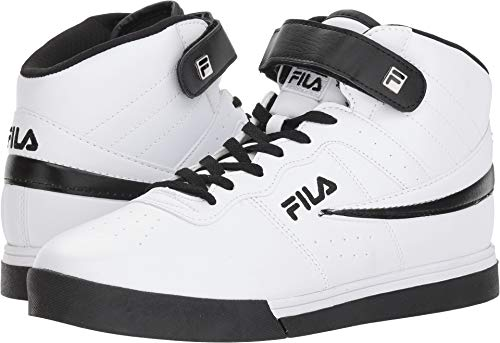 Fila Men's Vulc 13 Mid Plus Fashion Sneakers, White, Microsuede, Rubber, 11 M from Fila