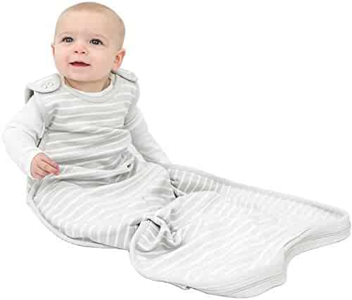 Woolino 4 Season Ultimate Baby Sleep Bag Sack - 2-24 Months Universal Size - Merino Wool - Gray