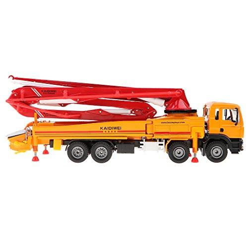 Fityle Concrete Pump Truck Construction Equipment Vehicle Model Toy Car 1/55 Diecast Boxset (Mini Concrete)