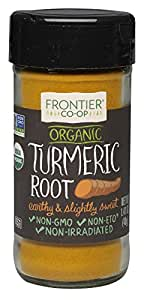 Frontier Organic Spices, Turmeric Root, 1.41 Ounce (Pack of 4)