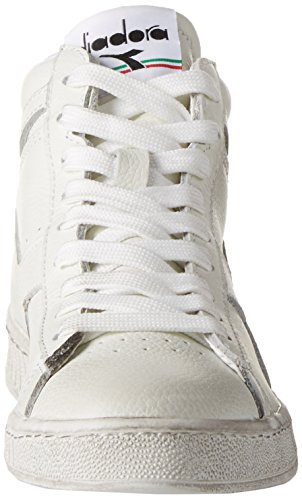 High – Unisex L Game a Alto Diadora Waxed Collo Bianco Sneaker Adulto RUwAzq