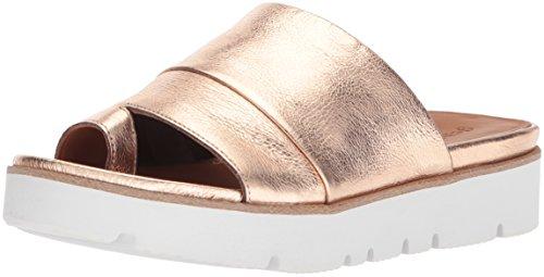 Gentle Souls by Kenneth Cole Women's Lavern Platform Slide Sandal Toe Ring Sandal, rose gold, 9.5 M US