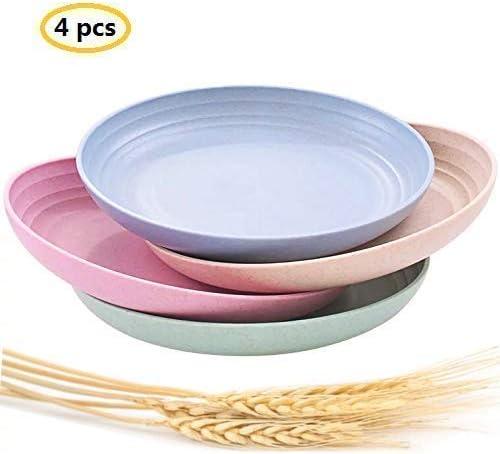 Amazon.com: Platos de paja de trigo ligeros e irrompibles ...