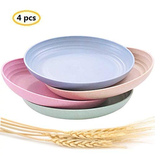 Lightweight &Unbreakable Wheat Straw Plates 7.87