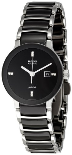 Rado-Centrix-Black-Dial-Ceramic-SS-Automatic-Ladies-Watch-R30942702