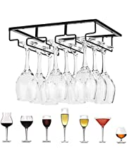 1PCS Hanging Wine Glass Rack Under Shelf Cabinet Mount Holder Metal Wine Glass Storage Hanger Stemware Holder Rack Great for Kitchen Stemware Storage Nice