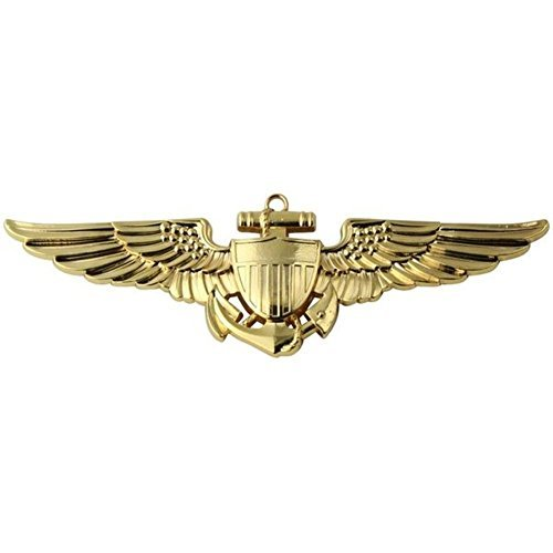 Naval & Marine Aviator Gold Metal Auto Emblem ()