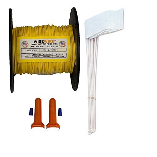 (Wisewire Boundary Wire Kit WW-K-P/20 Gauge/500' / 50 Flags )