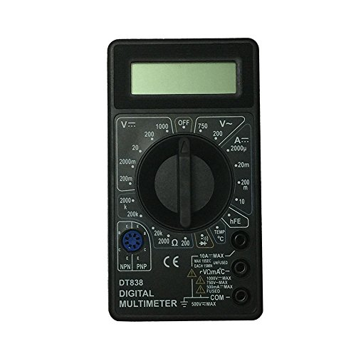 OLSUS DT838-1000V BK LCD Handheld Digital Multimeter for Home and Car - Black by OLSUS (Image #1)