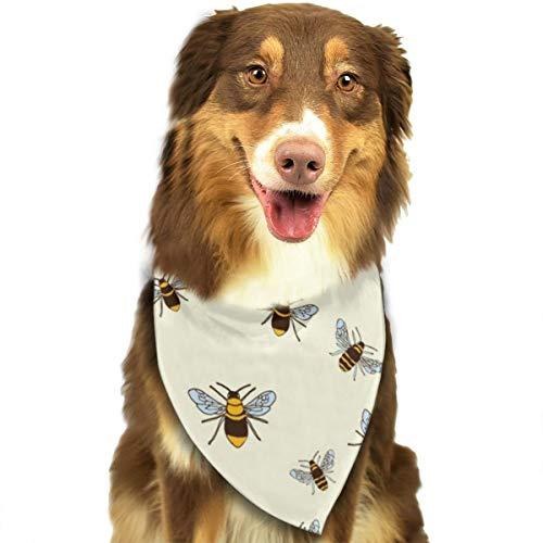 (NOWDIDA Dog Bandana Bee Honeybee Pet Triangle Scarf Festive Accessory for Puppies)