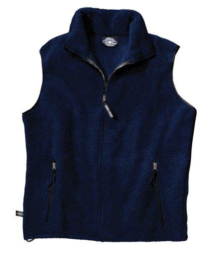 Charles Nylon Vest - Charles River Apparel Men's Ridgeline Fleece Vest, Large, Navy