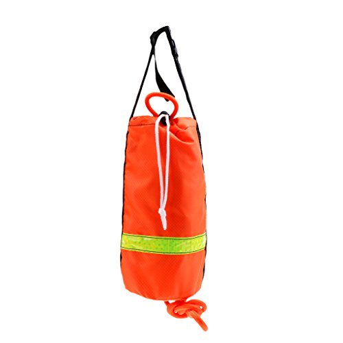 simhoa Kayak Water Floating Life Line Rescue Throw Rope Bag - Orange, 16m