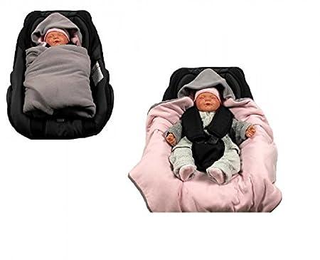 HOBEA Couverture de siège auto pour bébé (baie rose) 3797-Lightbrown lightblue