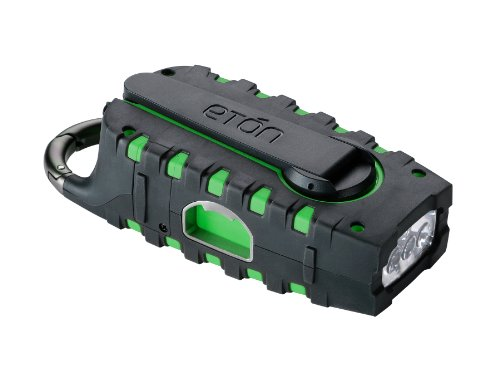 Etón SCORPION Rugged, Portable Multi-Purpose Digital Radio with Crank Power Back-up and Weather Alerts - Green, NSP100GR