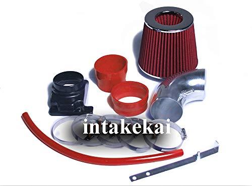PERFORMANCE SHORT RAM AIR INTAKE KIT + FILTER FOR 2002-2007 MITSUBISHI LANCER 2.0 2.0L L4 ENGINE (RED)