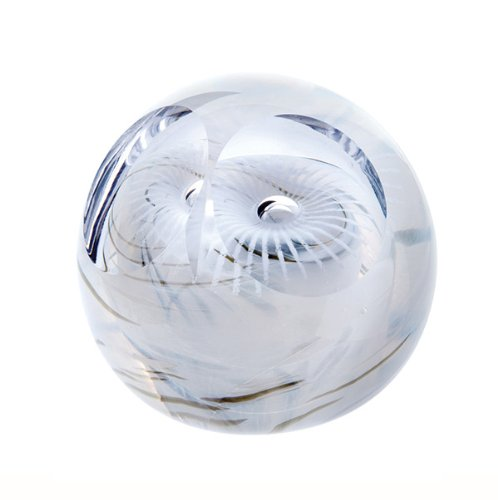 Caithness Glass Piece Crystal Snowy Owl Paperweight, Multi-Coloured