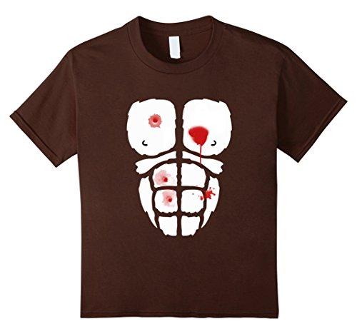 Kids Murdered Dead Killed Gorilla Halloween Costume T-Shirt 10 Brown (Youth Gorilla Costume)