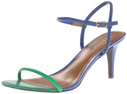 Lauren Ralph Lauren Women's Taja Dress Sandal,Regatta Blue/Summer Green,7.5 B US