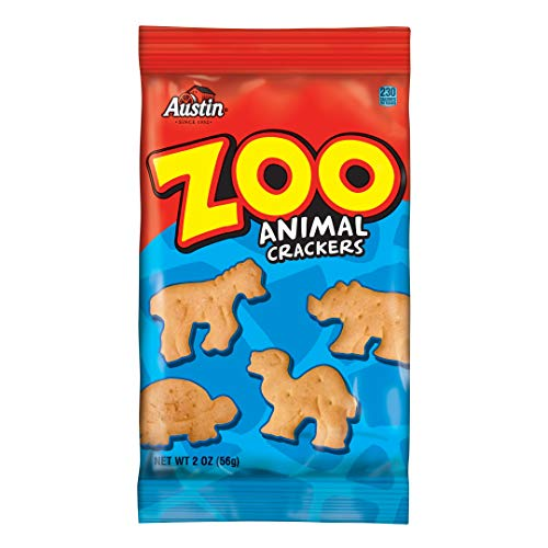 - Austin, Zoo Animal Crackers, Bulk Size, 160 oz (Pack of 80, 2 oz Pouches)