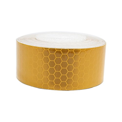 Autotoper Reflective Tape Yellow 2″X9.8′ for Trucks Trailers Car Park Traffic Warning Caution Conspicuity Tape Waterproof Self-Adhesive Reflector Tape-Reflective Tape 1 PCS