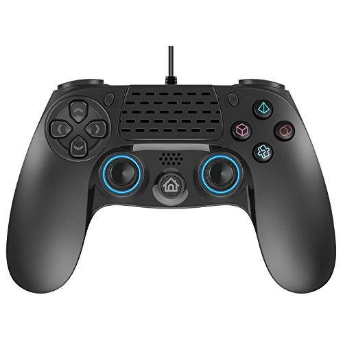 Wired PS4 Controller, Conbeer Dual Vibration USB Wired PS4 Remote Control Gamepad Joystick with 8 Feets Cable for Sony PS4/PS3/PC