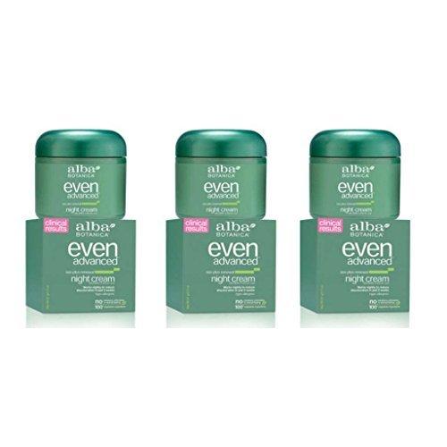 Alba Even Advanced - Night Cream 2oz(Pack of 3) Alba Sea Plus Renewal Cream