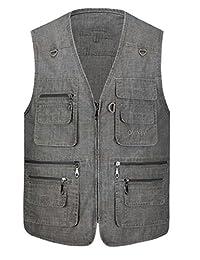 Joe Wenko Womens Leisure Multi Pockets Photo Work Outdoor Coat Fish Vest