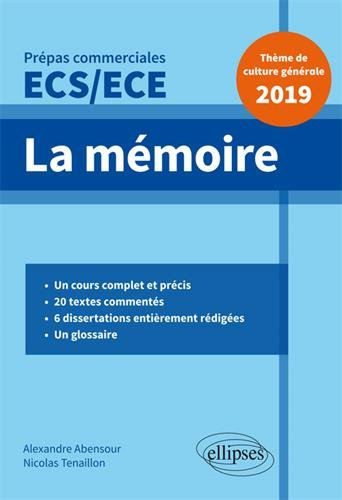 La mémoire - Épreuve de culture générale - Prépas commerciales ECS / ECE 2019