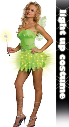 [Bright Sprite Costume - X-Large - Dress Size 14-16] (Adult Tinkerbell Fairy Costumes)