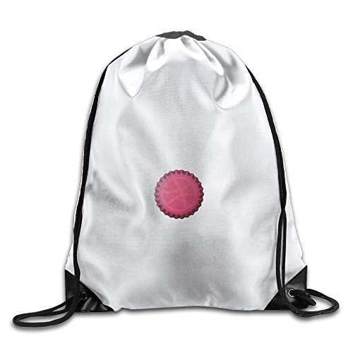 Sports Drawstring Backpacks Beer-cap-dribble Fashion Durable Polyester Drawstring Sports Fan Sackpack Bags For Shoes from StephniHickS