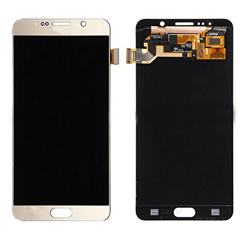 LSHtech LCD Display Touch Screen Digitizer Assembly for Samsung Galaxy Note 5 with free tools(gold) by Thecoolcube