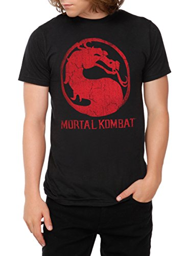 Mortal Kombat Classic Distressed Logo T-Shirt (Women Of Mortal Kombat)