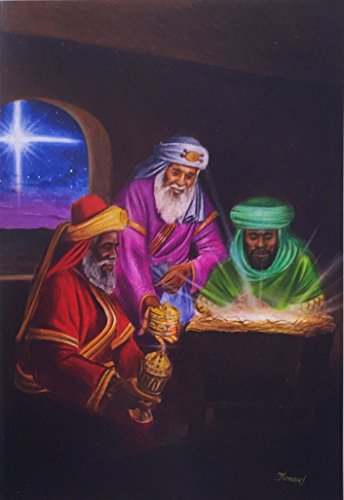 Three Wise Men / 3 Kings - 24 Pack of Christmas Cards - Full Color - 24 Holiday Cards and Cream Colored Envelopes from the Christian Collection