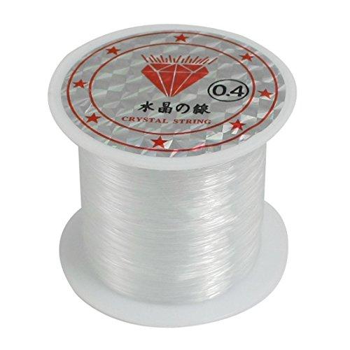 0.4 Mm Line (Dcolor 34Lbs 0.4mm Diameter Beading Thread Clear Nylon Fish Fishing Line Spool)