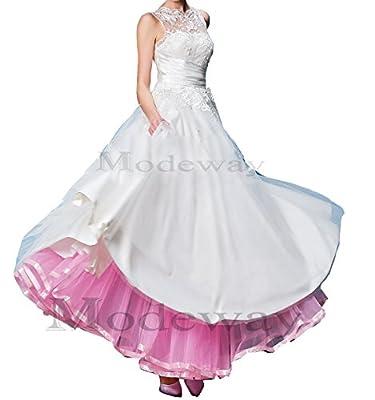 Modeway Women's Ankle Length Bridal Wedding Petticoats,Formal Dress Slips