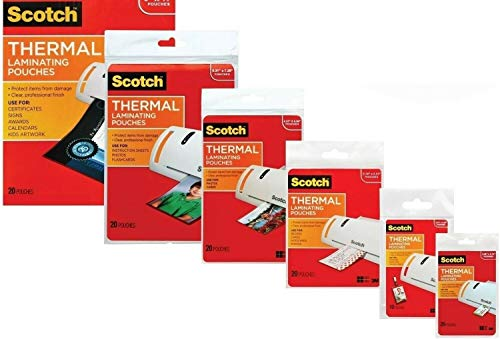 3M Laminating Pouch Kit with All Varieties of Laminating Pouches (1) (3m Laminating Machine)
