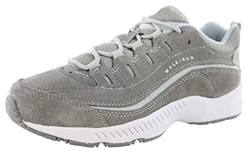 (Easy Spirit Women's Romy Suede Walking Shoes Medium Gray 7.5 W)