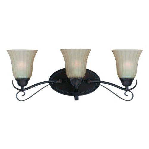 Triarch 33270/3 3 Light Value Bathroom Bar Light, Bronze - Triarch Lighting Bathroom Bars