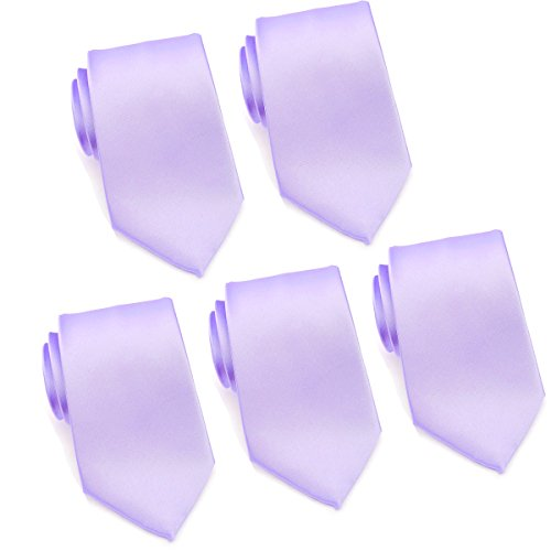 - Mens Formal Tie Wholesale Lot of 5 Mens Solid Color Wedding Ties 3.5