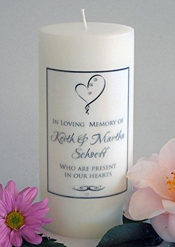 (Ribbon Heart Personalized 3x6 Memorial)