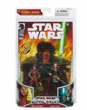 Star Wars 2009 Comic Book Action Figure 2Pack Dark Horse Tales Of The Jedi  6 Ulic Queldroma   Exar Kun
