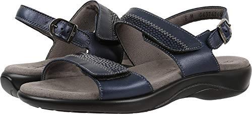(SAS Women's, Nudu Low Heel Sandals Navy 10.5 WW)